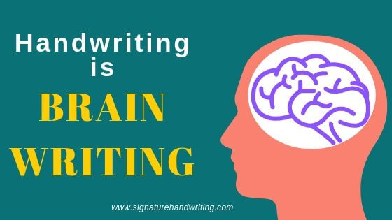 handwriting is brain writing